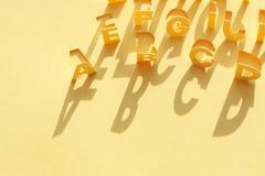 Paper alphabet Stock Photos