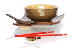Japanese dishware Stock Photos
