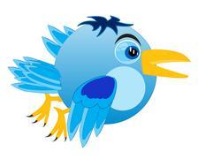 cartoon of the birdie - stock illustration
