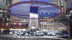 Berlin sony center christmas decoration Stock Footage