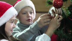 Christmas Siblings - stock footage