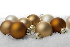 Christmas decoration brown Stock Photos