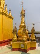 Mount Popa votive stupas Stock Photos