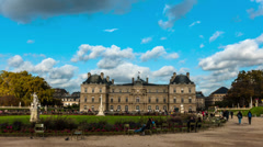Time lapse in the Luxembourg Garden, Paris, France Stock Footage