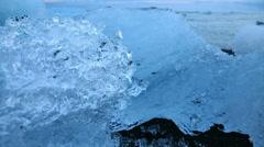 Blue icebergs and beach Stock Footage