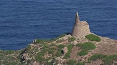 Aerial corsica tower ajaccio Stock Footage
