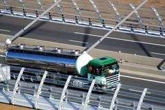motorway viaduct - stock photo