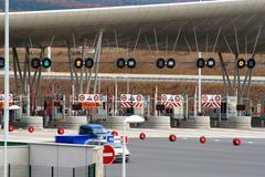 Stock Photo of toll of motorway