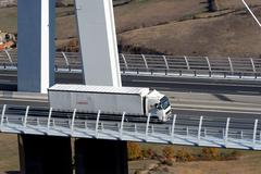 motorway viaduct - stock photo