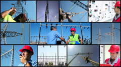 Electricity Distribution System Stock Footage