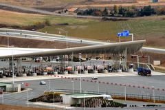 toll of motorway - stock photo