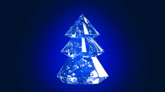 Crystal routing christmas tree - stock footage