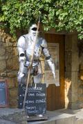 Armor teaches of restaurant with Domme Stock Photos