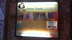 Anne frank museum berlin Stock Footage