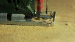 Electric fretsaw. side view Stock Footage