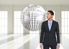 Stock Illustration of Composite image of asian businessman