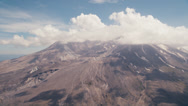 Stock Video Footage of Wide aerial shot of Mt. St. Helens