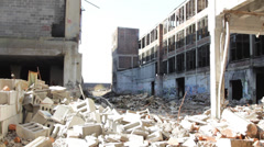 Abandoned building in Detroit (HD) k Stock Footage