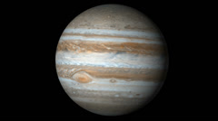 Planet Jupiter rotating in space Stock Footage