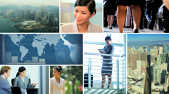 Video montage business managers working technology - stock footage