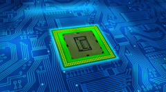 Microprocessor with moving energy - stock footage