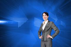 Composite image of customer service agent with headset on Stock Illustration
