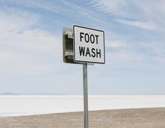 Paikannimi merkki Bonneville Salt Flats Kuvituskuvat