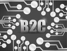 Stock Illustration of business to consumer circuit boards illustration