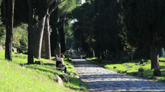 The Appian Way, Rome 7 Stock Footage
