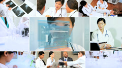 3D video montage medical teamwork patient healthcare - stock footage