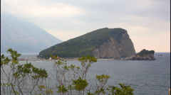 Saint Nicole Island, Montenegro Stock Footage