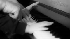 Kid playing piano Stock Footage