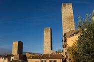 Stock Photo of San Gimignano Medieval Village, Italy, Europe