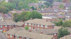 High angle view of a residential area in a suburb of London, UK - stock footage