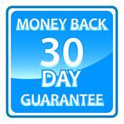 30 days money back guarantee - stock illustration