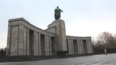 Soviet War Memorial (Treptower Park) Stock Footage