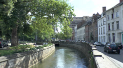 Canal running through the centre of Leuven, Flemish Brabant , Belgium. Stock Footage