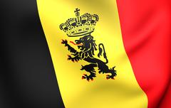 government ensign of belgium - stock illustration