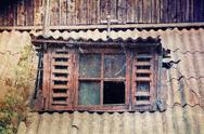 Old broken window Stock Photos