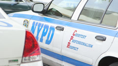 New York City Police Car with NYPD Tagline Stock Footage