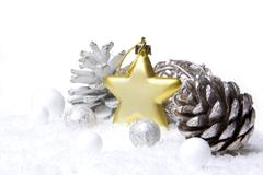 christmas ornament gold - stock photo