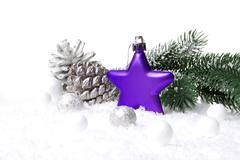 Christmas decoration violet Stock Photos