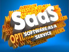 SAAS. Wordcloud Concept. Stock Illustration