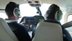 Piloting private airplane Stock Footage
