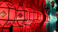 Lanterns in Yee-peng festival ,ChiangMai Thailand Stock Footage