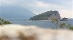 Island, Montenegro Stock Footage