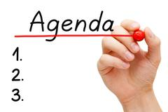 Agenda concept Stock Photos