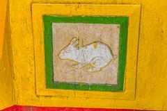 Rabbit decoration detail - Burma Stock Photos
