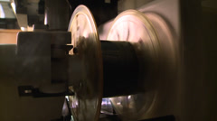 OLD MOVIE PROJECTOR REEL MICROFICHE MACHINE HD 1080 Stock Footage