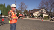 Stock Video Footage of contractor foreman